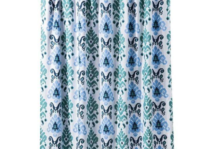 Gray Ikat Shower Curtain