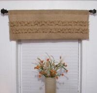 Burlap Ruffled Valance Rustic Curtain Handmade Window ...