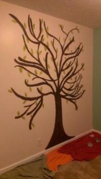 hand painted tree on nursery wall | Trees | Pinterest