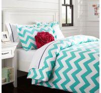 Pb teen turquoise chevron bedding | PB Teen | Pinterest