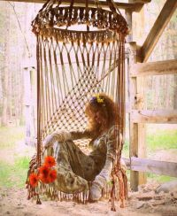 Macrame Hanging Swing Chair | Bohemian Hippie Lifestyle ...