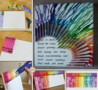 DIY Melted Crayon Wall Art | Craft Projects | Pinterest