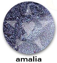 """AMALIA is a rich deep periwinkle frost with vibrant blue sparks.    CHIARA is an Aromaleigh v2 stock collection, inspired by the range of best-selling, frost eyeshadows of Aromaleigh v1, the """"Gothic Lolita"""" Eyeshadow collection.    http://www.aromaleigh.com/newcshjetomi.html"""