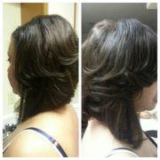 semi layered bob sew in hair