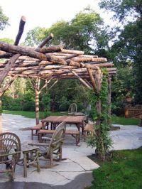 Rustic Pergola | Garden dreaming | Pinterest