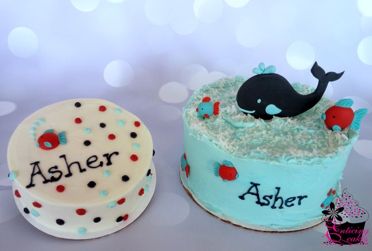 Whale Tail Template Cake