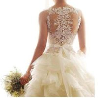 Blinged out back | Blinged out wedding dresses | Pinterest