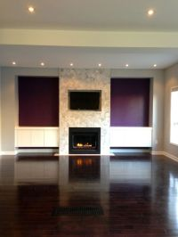 fireplace with accent walls
