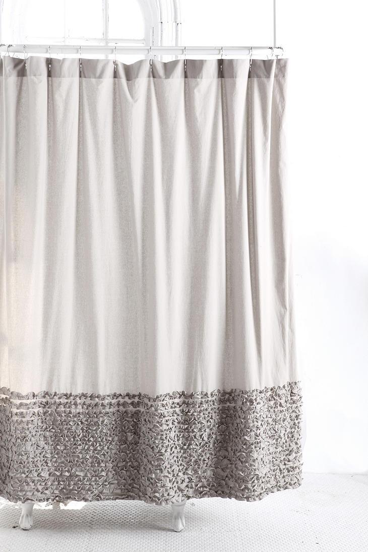 Bloomer Ruffle Shower Curtain