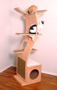Modern Cat Tower | Cat Decor... | Pinterest