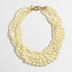 Factory multistrand pearl necklace