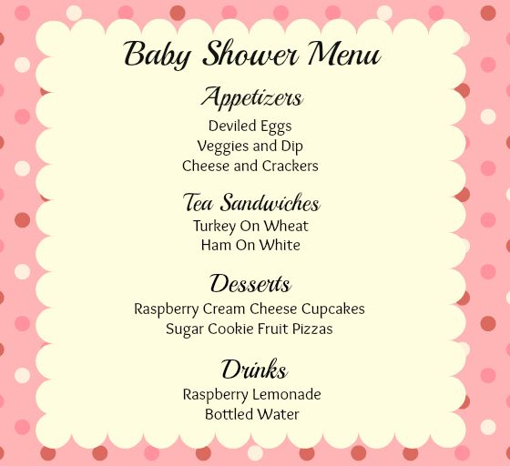 Easy Baby Shower Food