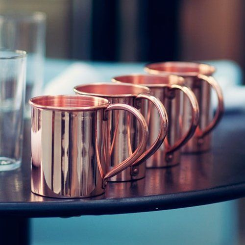 Moscow Mule Mugs, Solid Copper