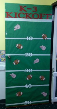 Football theme door for back to school