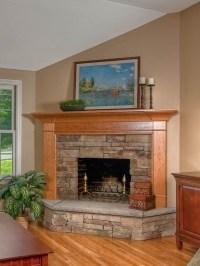 Corner Fireplace Design   Home Ideas!   Pinterest