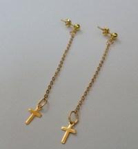 Cross Dangle Earrings