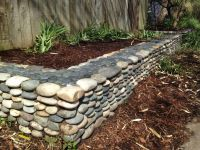 River rock garden border | Garden bliss | Pinterest