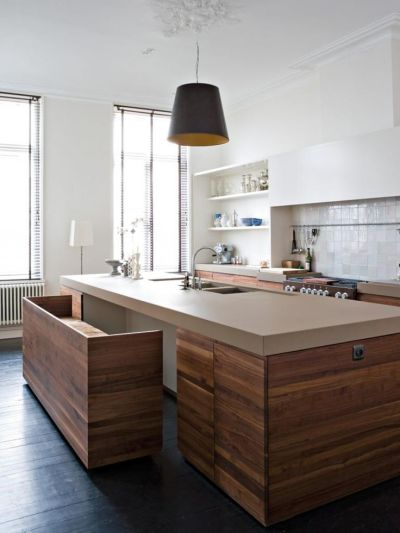 Kitchen island w/ pull out seating! | : : SAM: Spring 2012 ...