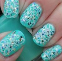 Teal pretty nails | Nails | Pinterest