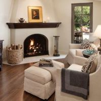 CORNER FIREPLACES: SPANISH STYLE CORNER FIREPLACE