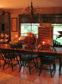 Primitive Dining Room | Dining room ideas | Pinterest