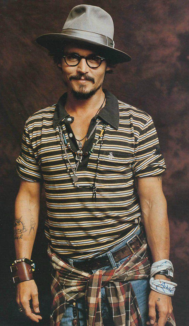 Johnny Depp, Fedora; men's style + fashion