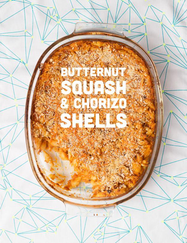 Butternut Squash & Chorizo Shells
