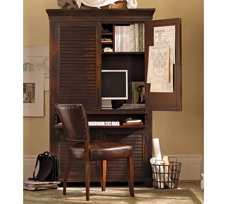 Pottery Barn Computer Armoire  For the Home  Pinterest