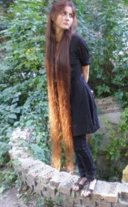 ankle length cutie long hair