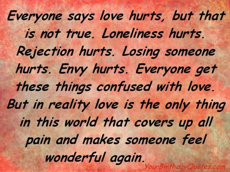 Quotes About Love Hurts English