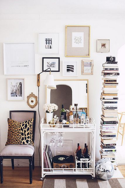 Decor up and not out if your apartment's blueprint would fit on a postage stamp. | via @theaestate