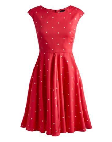 50s Style Dress in Bright Pink Spot £74.95 from Joules