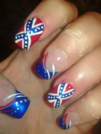 Confederate flag nails | Southern Hospitality | Pinterest