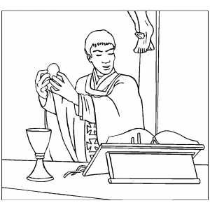 Catholic Mass Coloring Pages Sketch Coloring Page