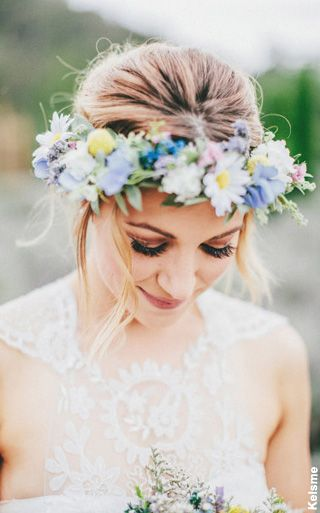 Floral crown wedding