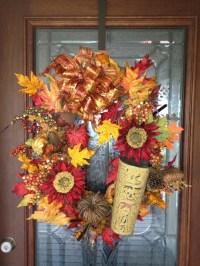 Fall Wreath for front door | AUTUMN WREATHS | Pinterest