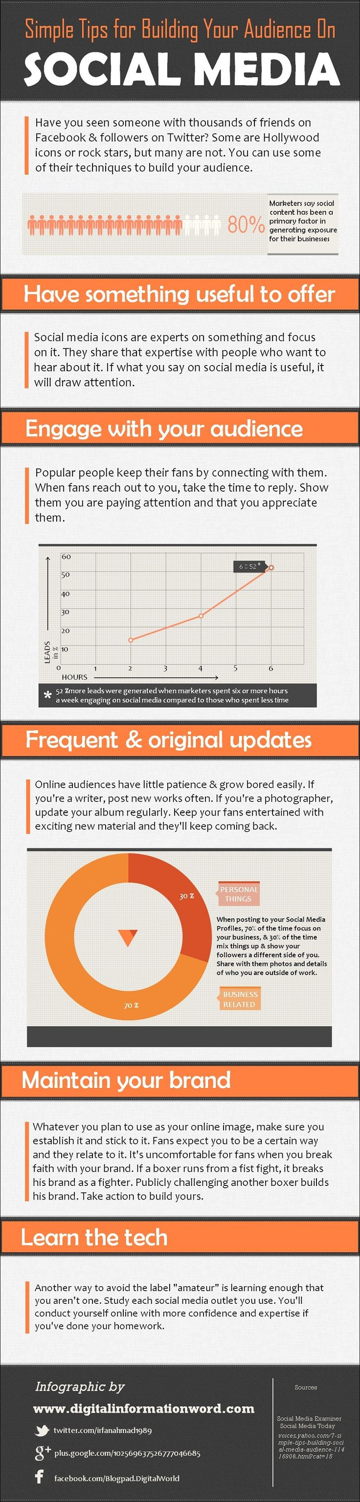 5 Strategies for Building Your Audience on Social Media #Infographic