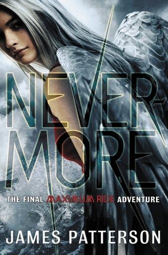 Cover for Nevermore, the eighth book in the Maximum Ride series.