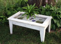 Display Coffee Table with Glass Top, Reclaimed Wood ...