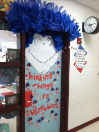 My classroom door for Dr. Seuss day