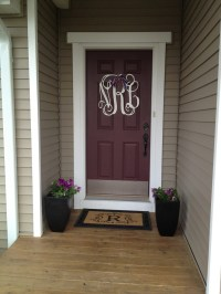 Front door monogram   For the Home   Pinterest
