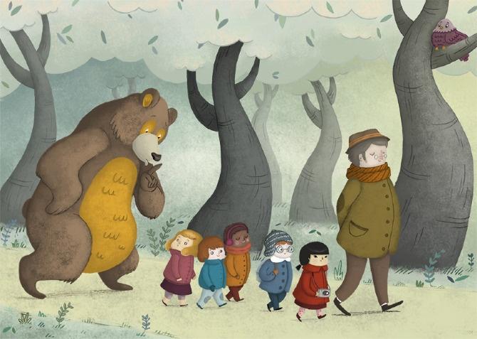 School Trip - Laura Wood Illustration