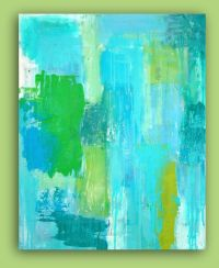 RESERVED.Turquoise Abstract Acrylic Painting Original Wall ...