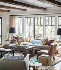 lake house living room | Living Space | Pinterest