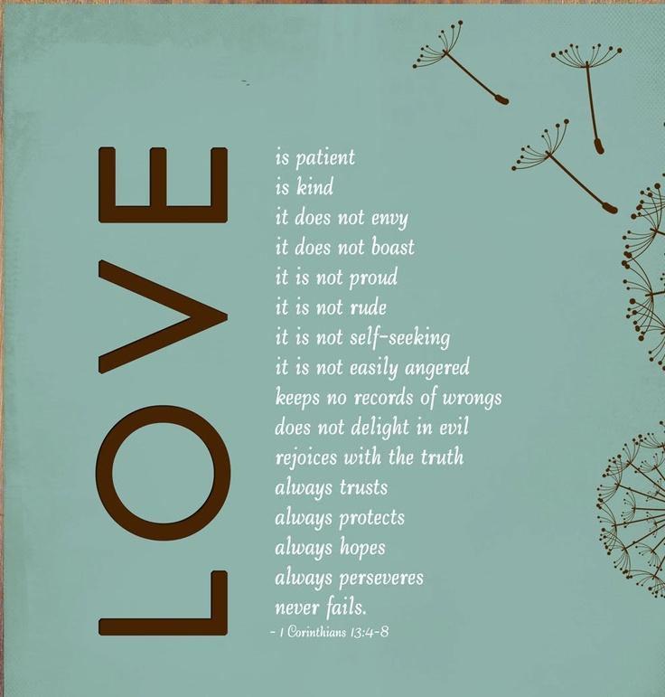 Love. 1Corinthians 13 † ❤