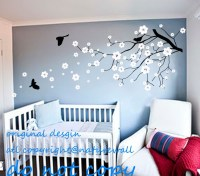 Vinyl wall decals Cherry blossom tree decals baby nursery ...