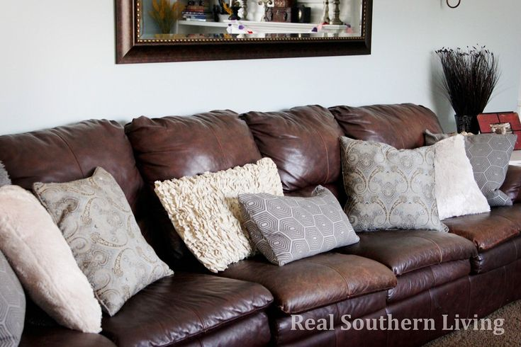 Throw Pillows For Brown Leather Couch Magiel Info