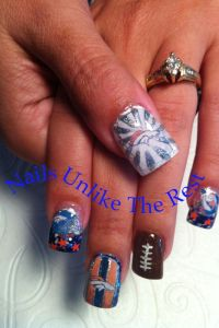 Denver Bronco Nails | This Girl Loves... | Pinterest