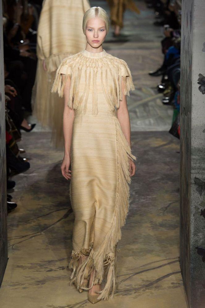 Valentino haute couture 2014, nude dress, fringe dress, maxi dress, bohemian dress