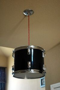 Real Drum Shade Pendant Light
